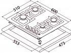 Варочная поверхность газовая PERFELLI DESIGN HGM 6430 INOX SLIM LINE - изображение 11