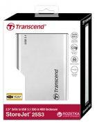 "Внешний карман Transcend StoreJet 25S3 для 2.5"" HDD/SSD USB 3.1 Aluminum (TS0GSJ25S3) - изображение 3"