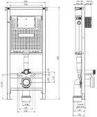 Инсталляция KOLLER POOL Alcora ST1200 + панель смыва Round White + подвесной унитаз Kvadro KR-0530-RW с сиденьем Soft Close - изображение 6