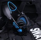 Наушники Sades SA-708 Stereo Gaming Headphone/Headset with Microphone Black/Blue (SA708-B-BL) - изображение 7