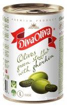 Оливки зеленые с огурчиком Diva Oliva 300 г (5060162901497 / 8436024291971) - изображение 1