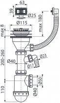 Сифон для кухонной мойки ALCA PLAST A447P (8594045936018) - изображение 2