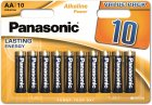 Батарейки Panasonic Alkaline Power щелочные AA блистер, 10 шт (LR6REB/10BW) - изображение 1