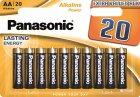 Батарейки Panasonic Alkaline Power щелочные AA блистер, 20 шт (LR6REB/20BW) - изображение 1