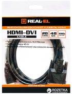 Кабель Real-El HDMI-DVI M-M 1.8 м Black - изображение 3