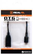 Перехідник Real-El OTG USB 2.0 AF - microUSB BM 0.1 м Black - зображення 3
