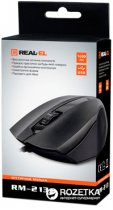 Миша Real-El RM-213 USB Black - зображення 2