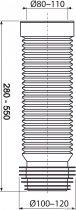 Гофра для унітаза ALCA PLAST A97 (8594045933468) - зображення 2