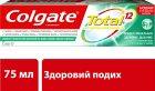Комплексная зубная паста Colgate Total 12 Профессиональная Здоровое дыхание Антибактериальная 75 мл (7509546067094) - изображение 2