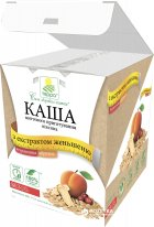 Каша вівсяна Терра миттєвого приготування з журавлиною, абрикосом і екстрактом женьшеню 456 г (шоу-бокс, 12 пакетиків по 38 г) (4820015734600) - зображення 1