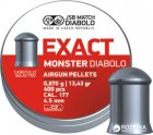 Свинцеві кулі JSB Diabolo Exact Monster 0.87 г 400 шт. (14530534) - зображення 1