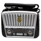 Радіо Ретро Golon RX-456S Портативна колонка з сонячною панеллю ліхтарик power bank (47064) - зображення 2