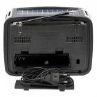 Радіо Ретро Golon RX-456S Портативна колонка з сонячною панеллю ліхтарик power bank (47064) - зображення 5
