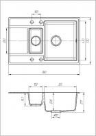 Кухонная мойка Galati Jorum 78D Grafit 201 (3342) - изображение 2