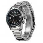 Мужские спортивные кварцевые часы Weide Standart Silver 1506 - изображение 5