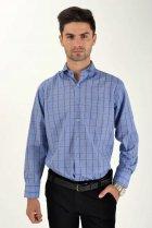 Мужская рубашка (9021-26) AGER 41 Синий 000042292 - изображение 4
