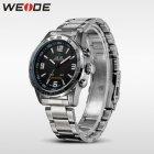 Мужские наручные часы Weide Led Steel, двойное время, подсветка - изображение 3