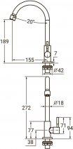Монокран для раковини AQUATICA KT-1G170P - зображення 4