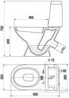 Унитаз-компакт КЕРАМИН Стиль МС Алкапласт 1117117 белый с сиденьем полипропилен - изображение 3