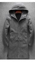 Пальто Chernyy Kot 2001-GR Серый S - изображение 3