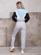 Спортивный костюм ISSA PLUS SA-107 S Серый с голубым (2001012267724) - изображение 3