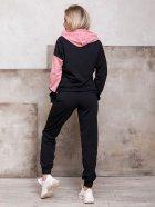Спортивный костюм ISSA PLUS SA-112 L Черный с розовым (2001012268783) - изображение 3
