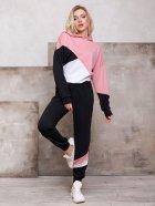 Спортивный костюм ISSA PLUS SA-112 S Черный с розовым (2001012267939) - изображение 1