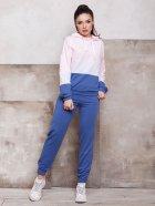 Спортивный костюм ISSA PLUS SA-131 M Синий с розовым (2001012268653) - изображение 1