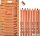 Карандаши цветные Marco Natural-Cedarlite Jumbo с точилкой 12 цветов (6400-12СВ) (6951572903203) - изображение 1