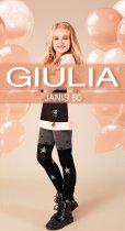 Колготки Giulia Janis (4) 80 Den 140-146 см Dark Grey Melange (4823102965567) - зображення 1