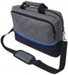 "Сумка для ноутбука Kodor Protection Oxford 600D 15.6"" Grey/Black (Н0011) - зображення 2"