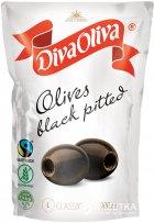 Маслины Diva Oliva Черные без косточек 200 мл (5060235655906) - изображение 1