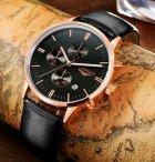 Мужские классические кварцевые часы Guanquin Digit Black 8801 - изображение 3
