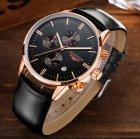 Мужские классические кварцевые часы Guanquin Digit Black 8801 - изображение 4