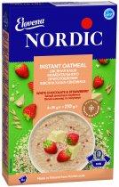 Овсяная каша моментального приготовления NordiC с белым шоколадом и клубникой 6 x 35 г (6411200210320) - изображение 1