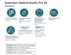 Інсталяція GEBERIT Duofix Pro 20 118.315.21.1 з панеллю змиву Delta 20 хром + унітаз KOLO Idol M1310002U із сидінням дюропласт - зображення 5