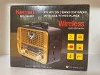 Аккумуляторный радиоприёмник колонка Kemai Retro (MD-1905BT) с Bluetooth и USB Gold - изображение 2