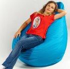Крісло мішок груша 120х85см Блакитний - зображення 2