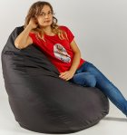 Крісло мішок груша 120х85см Чорний - зображення 2