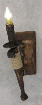 Бра факел из дерева одинарный 110721 - изображение 7