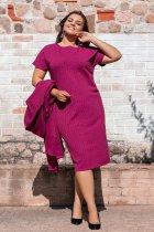 Платье + накидка ALDEM 1655 54 Фуксия (2000000369013) - изображение 2