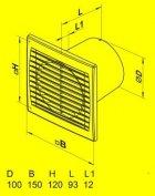 Вытяжной вентилятор Домовент 100 С1 - изображение 2