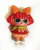 Сквиш лялечка Лол червона - 13 см / LOl Doll squishy / Сквуши / Іграшка-антистересс - зображення 1