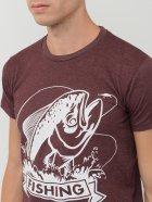 Футболка Sol's Regent Fit Fishing 00553148/78 L Бордовая (3609374905842) - изображение 4
