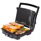 Електричний прижимний гриль-тостер, барбекю для м'яса, овочів, паніні закритий контактний 2000 Вт Сріблясто-чорний First (FA-5344-1) - зображення 4