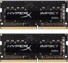 Оперативна пам'ять HyperX SODIMM DDR4-2400 8192MB PC4-19200 (Kit of 2x4096) Impact (HX424S14IBK2/8) - зображення 1