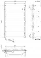 Полотенцесушитель KOSSER Лесенка Микс 800х500/7 ЕR - изображение 3