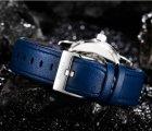 Мужские классические механические часы Oubaer Night Blue 8902 - изображение 8