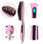 Електрична гребінець випрямляч для вирівнювання Fast Hair Рожева (NJ-243) - зображення 5