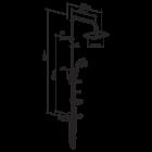 Душова система Damixa Palace Evo 974200000 - зображення 2